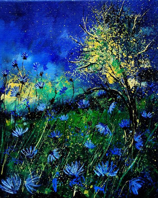 Poppies Art Print featuring the painting Wild Chocoree by Pol Ledent