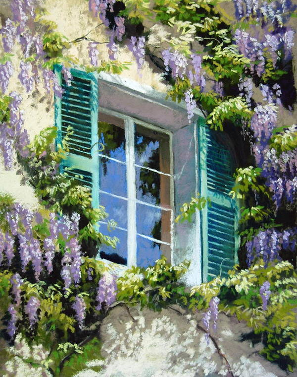 Wisteria Art Print featuring the painting Wisteria In Provence by Jeanne Rosier Smith