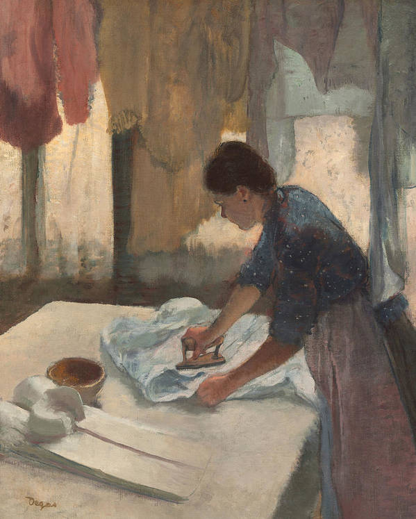 French Art Art Print featuring the painting Woman Ironing by Edgar Degas