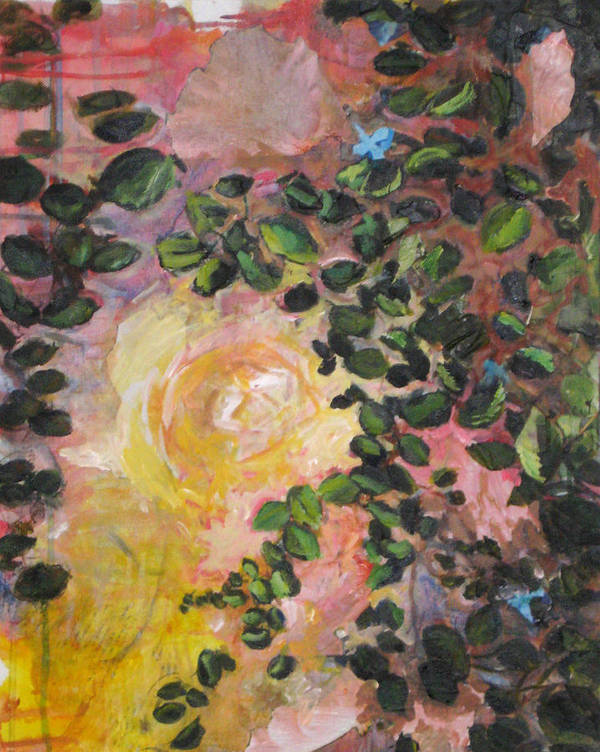 Nature Art Print featuring the painting Yellow Rose by Alicia Kroll