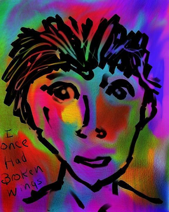 Portrait Art Print featuring the digital art Young Child by Jill Wilhelm