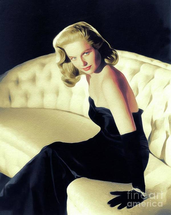 Martha Art Print featuring the painting Martha Hyer, Vintage Actress by John Springfield