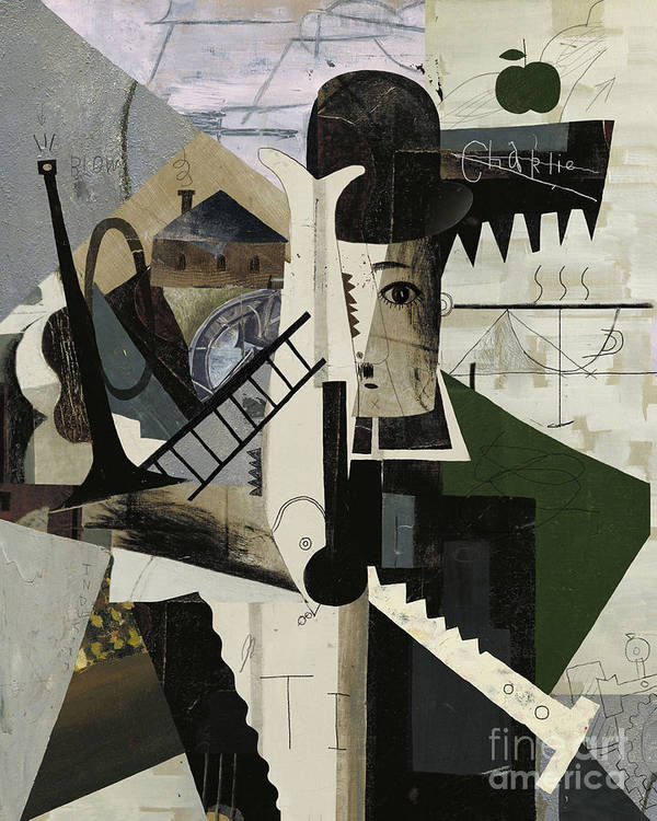 Suprematism Art Print featuring the digital art Abstract Image Of Charlie by Dmitriip