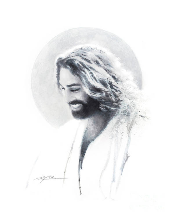 Jesu Art Print featuring the painting Joy Of The Lord Vignette by Greg Olsen