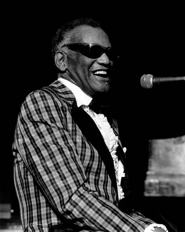 1980-1989 Art Print featuring the photograph Photo Of Ray Charles by David Redfern