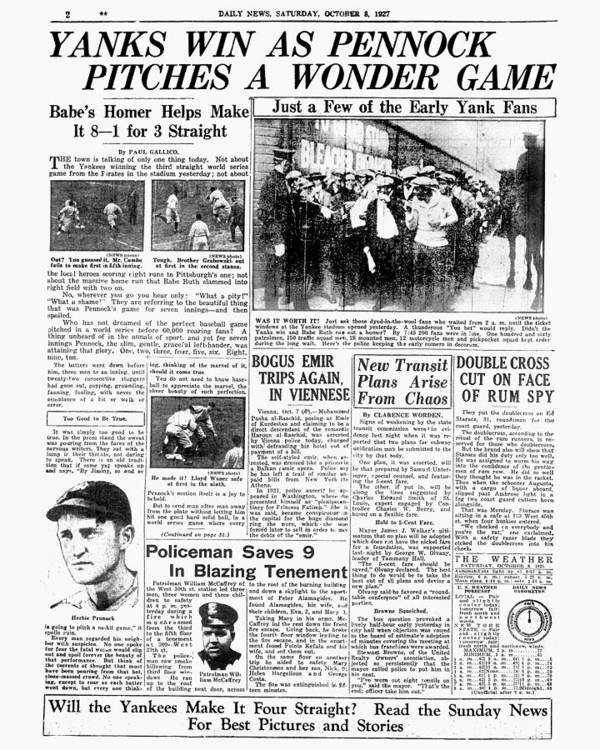 American League Baseball Art Print featuring the photograph Babe Ruth by New York Daily News Archive