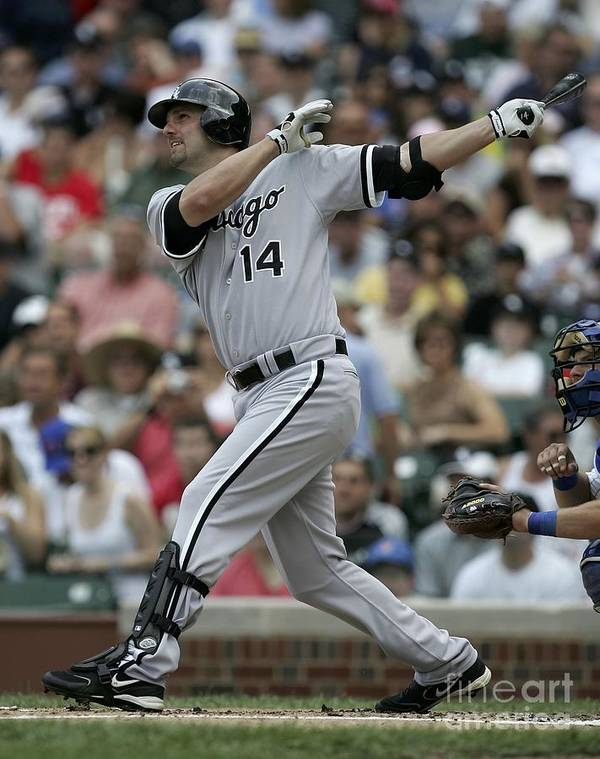 American League Baseball Art Print featuring the photograph Paul Konerko by Jonathan Daniel