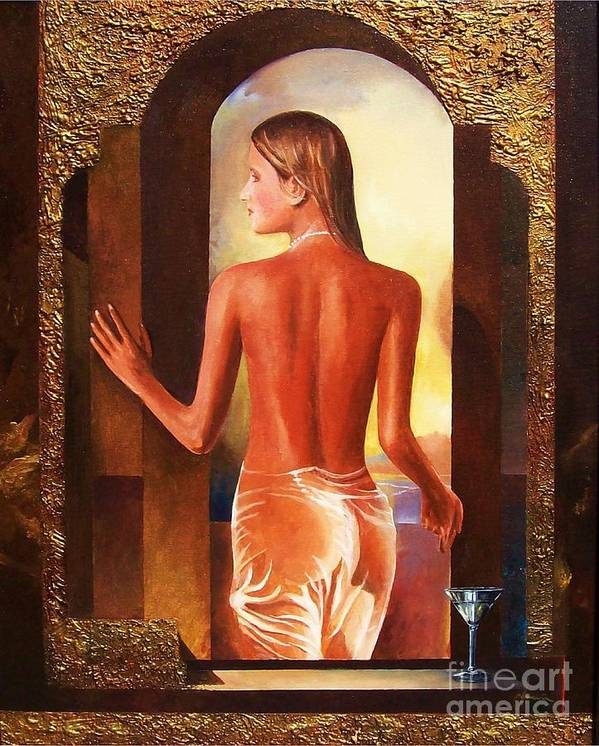 Nudes Art Print featuring the painting Come To Me by Sinisa Saratlic
