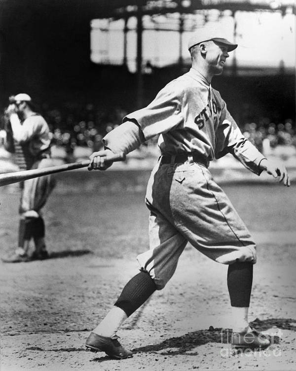 American League Baseball Art Print featuring the photograph George Sisler by National Baseball Hall Of Fame Library