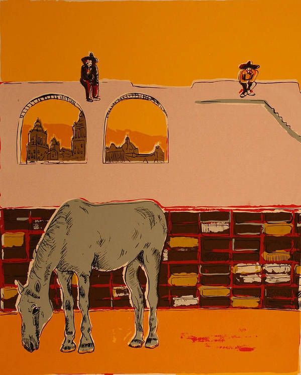Art Print featuring the painting Mexican Landscape by Biagio Civale