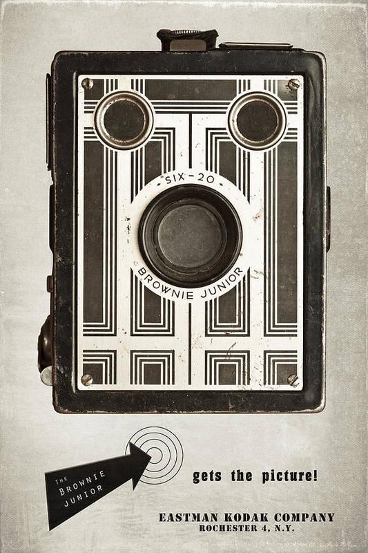 Antique Art Print featuring the photograph The Brownie Junior Six-20 Camera by Tom Mc Nemar