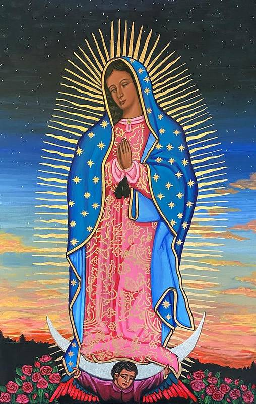 Art Print featuring the painting Our Lady of Guadalupe by Kelly Latimore