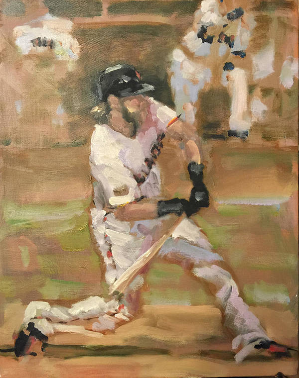 Sf Giants Art Print featuring the painting Untitled 1 by Darren Kerr