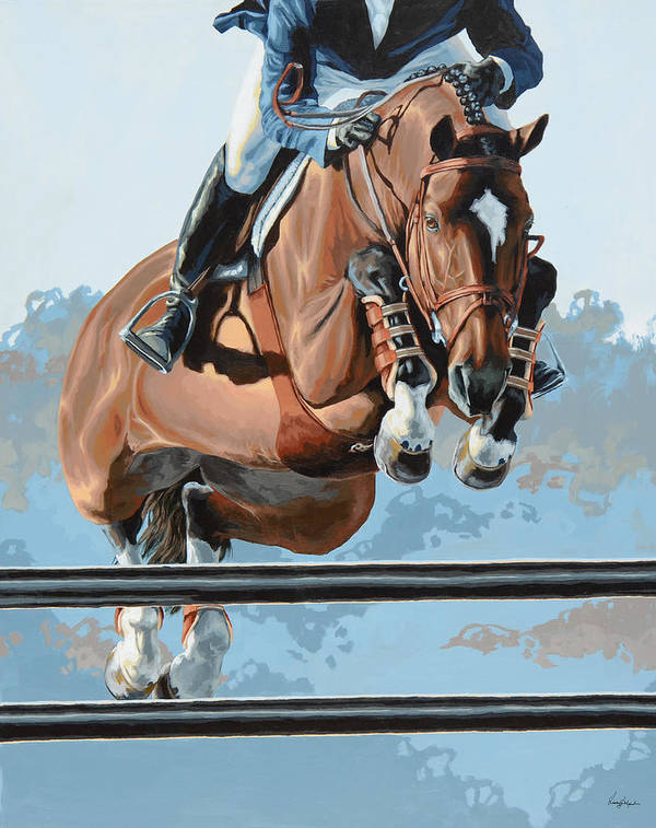 Horse Art Print featuring the painting High Style by Lesley Alexander