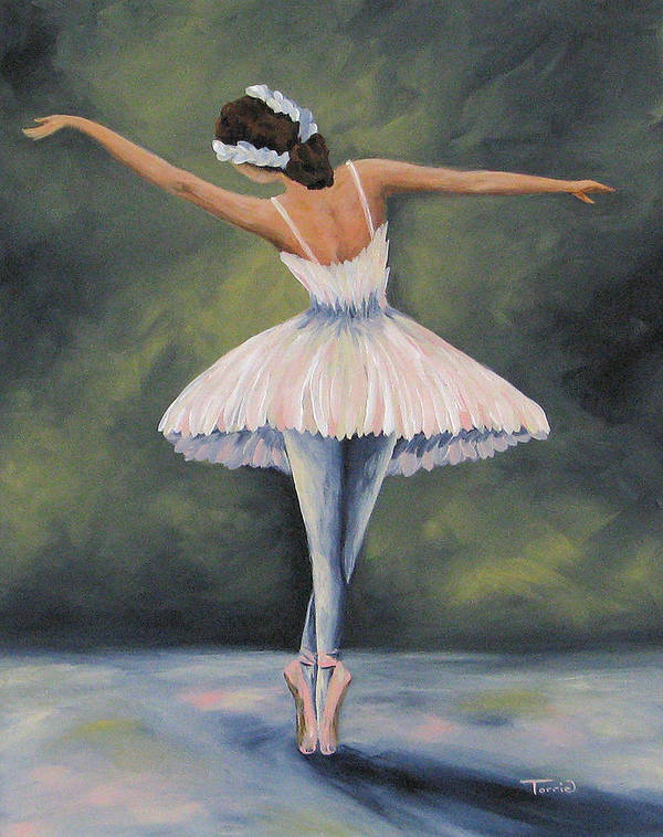 Ballerina Art Print featuring the painting The Ballerina IV by Torrie Smiley