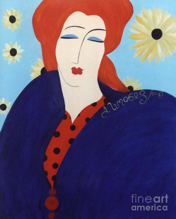 #female Art Print featuring the painting 2001 Collection by Jacquelinemari