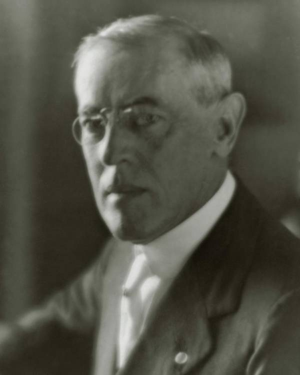 Political Art Print featuring the photograph A Portrait Of Woodrow Wilson by Arnold Genthe