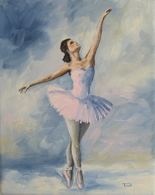 Ballerina Art Print featuring the painting Ballerina 001 by Torrie Smiley