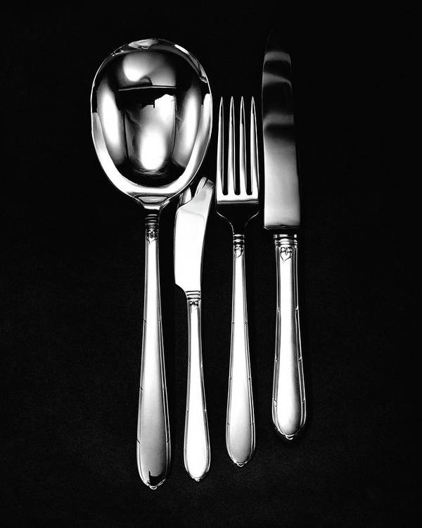 Home Accessories Art Print featuring the photograph Berkeley Square Silverware by Martin Bruehl