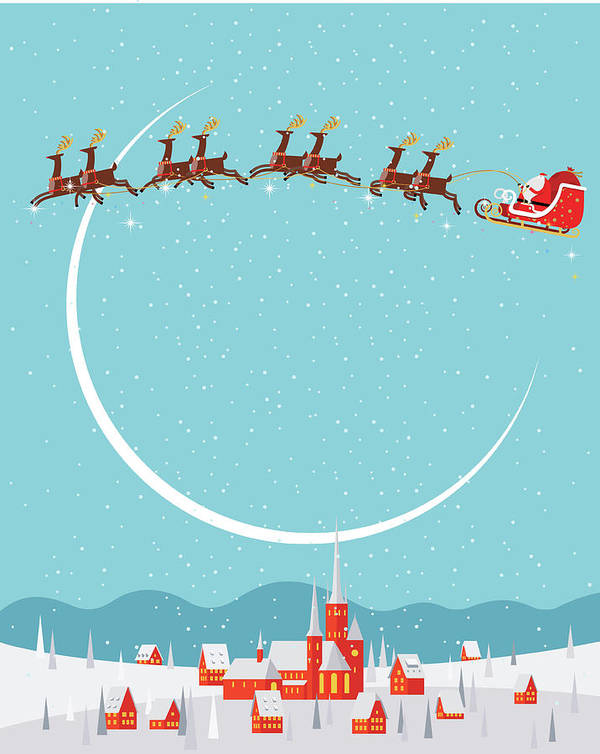 Holiday Art Print featuring the digital art Christmas Background by Akindo