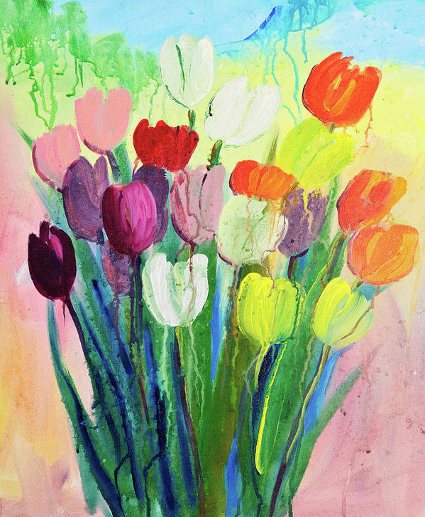 Art Art Print featuring the digital art Composition Of Flowers by Balticboy