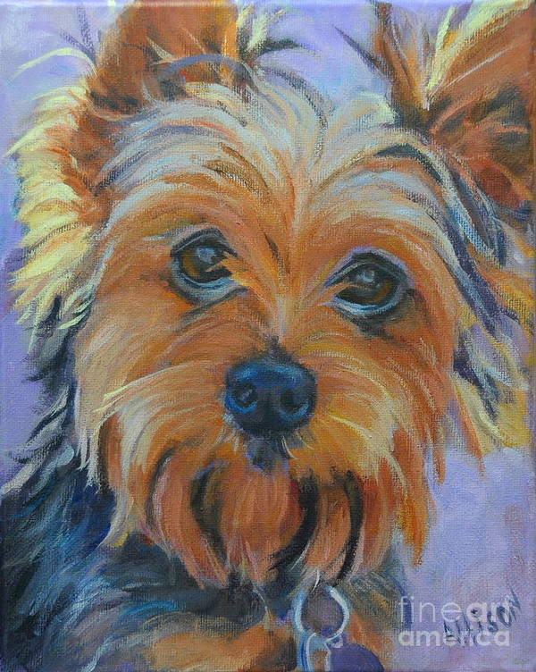 Pet Art Print featuring the painting Dog Days of Summer 2 by Stephanie Allison