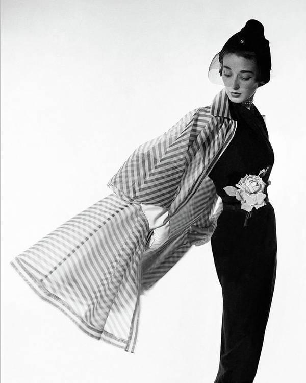 Accessories Art Print featuring the photograph Dorian Leigh Wearing A Bonnie Cashin Dress by Cecil Beaton