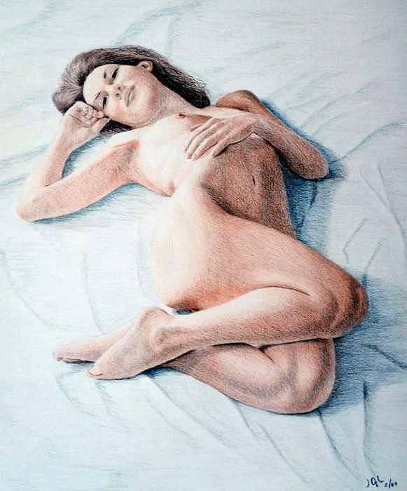 Joe Ogle Art Print featuring the drawing Dreamy by Joseph Ogle