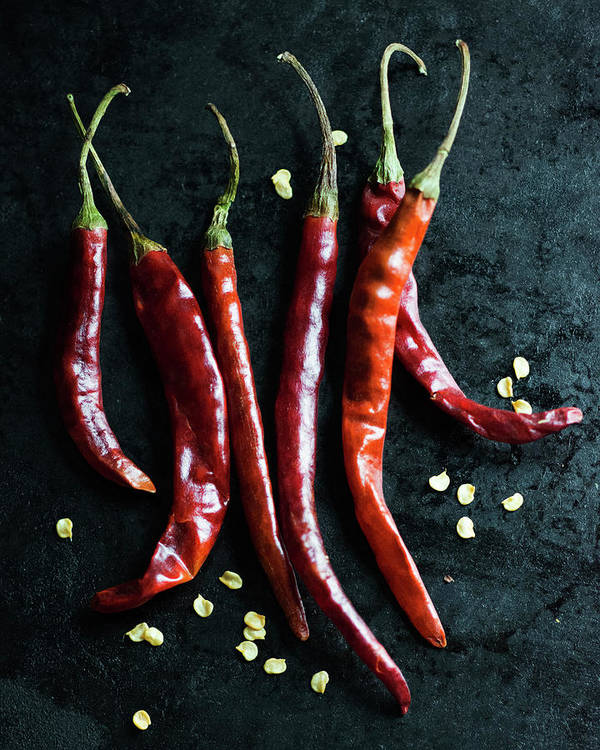 California Art Print featuring the photograph Dried Chilli Peppers by Jack Andersen
