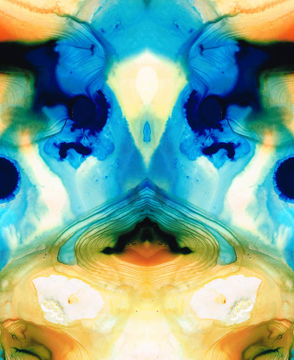 Enlightened Art Print featuring the painting Enlightenment - Abstract Art By Sharon Cummings by Sharon Cummings