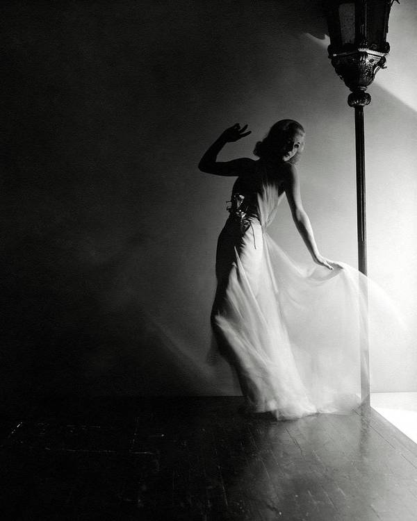 Dance Art Print featuring the photograph Ginger Rogers Wearing An Evening Gown by Horst P. Horst