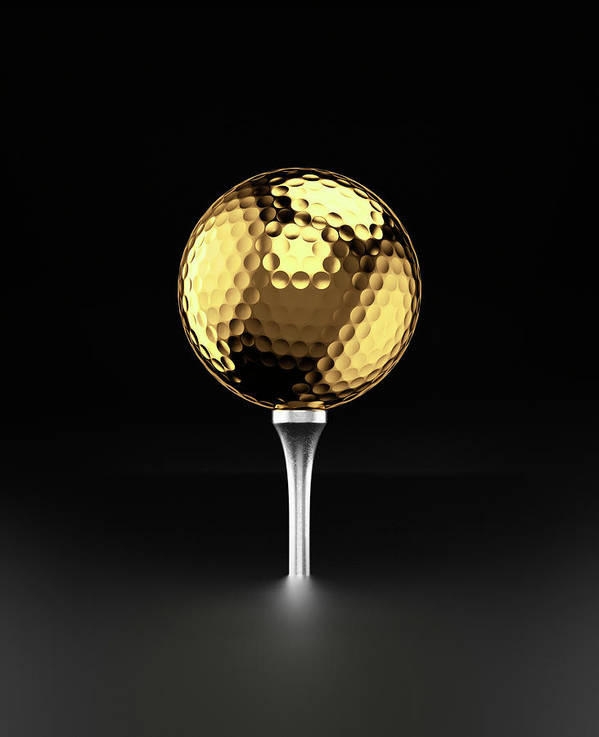 Two Objects Art Print featuring the photograph Golfball And Alluminium Golf Tee by Atomic Imagery