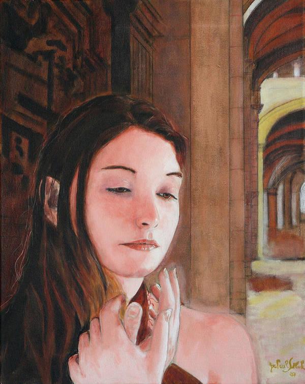 Gothic Souk Art Print featuring the painting Gothic Souk by Jean-Paul Setlak