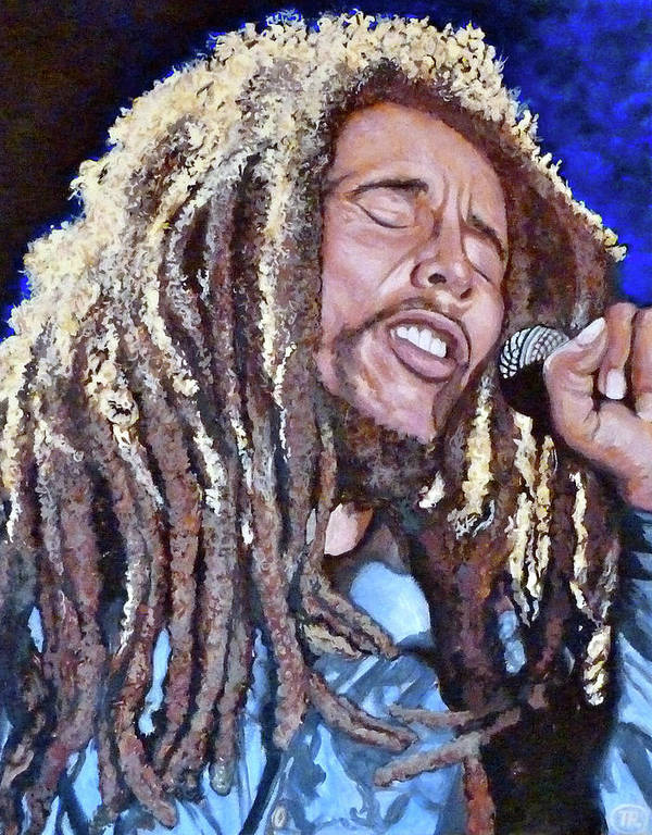 Reggae Art Print featuring the painting Hit Me With Music by Tom Roderick