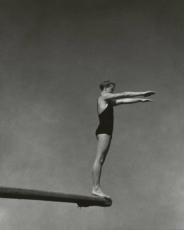 Exterior Art Print featuring the photograph Katherine Rawls Getting Ready To Dive by Edward Steichen