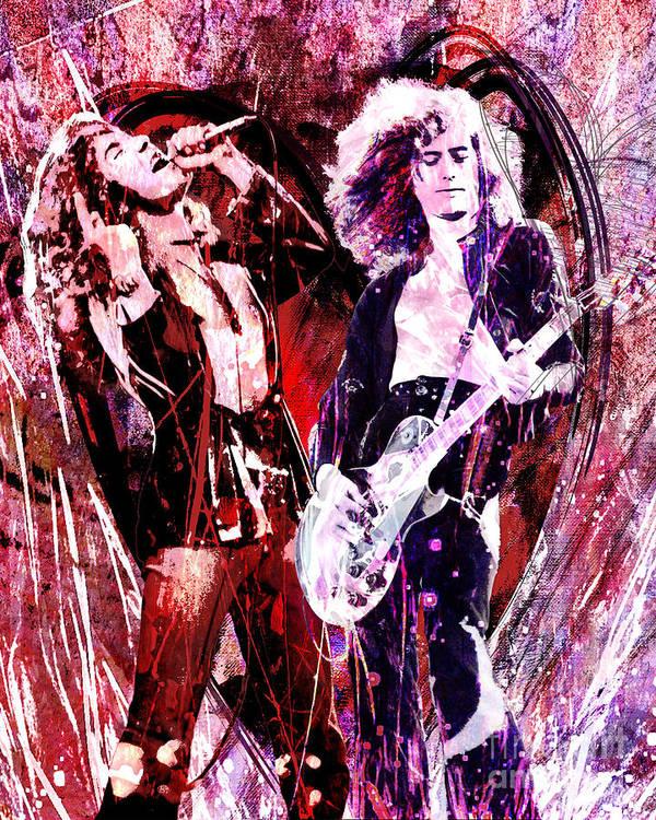 Robert Plant poster art print Led Zeppelin wall art.