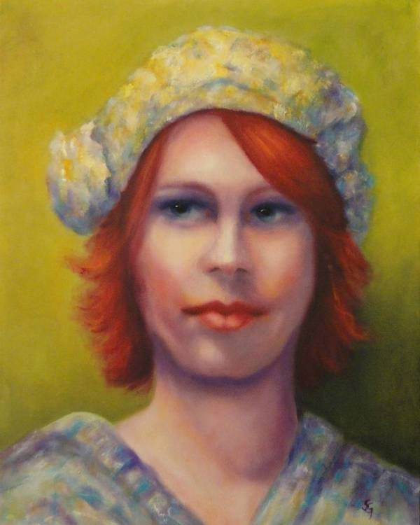 Portrait Art Print featuring the painting Red by Shannon Grissom