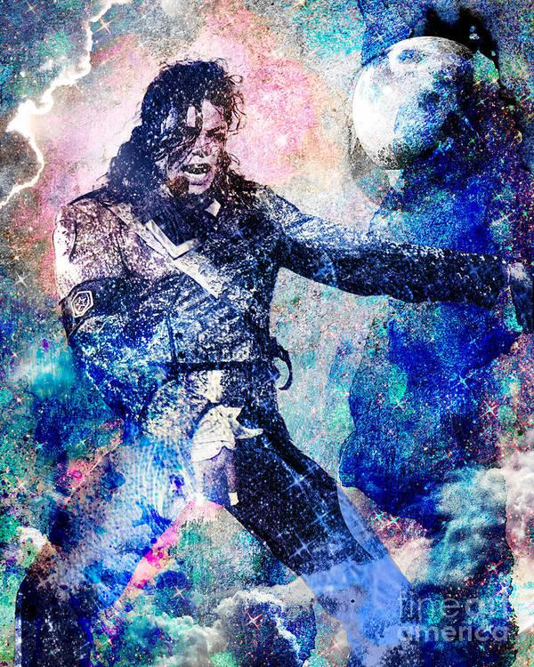 Rock Art Print featuring the painting Michael Jackson Original Painting by Ryan Rock Artist