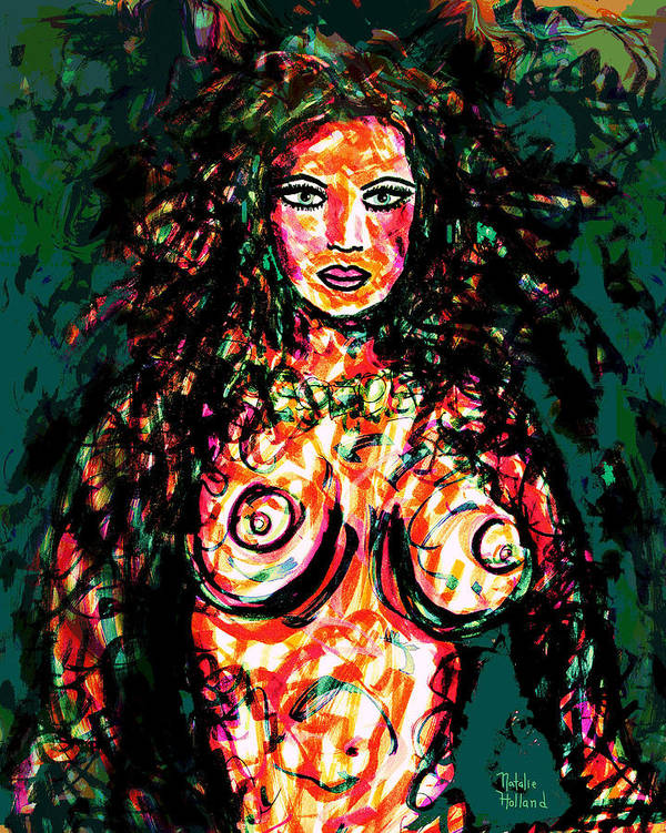 Woman Art Print featuring the mixed media Mother Nature by Natalie Holland