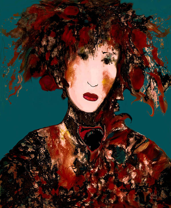 French Woman Art Print featuring the mixed media Parisienne by Natalie Holland