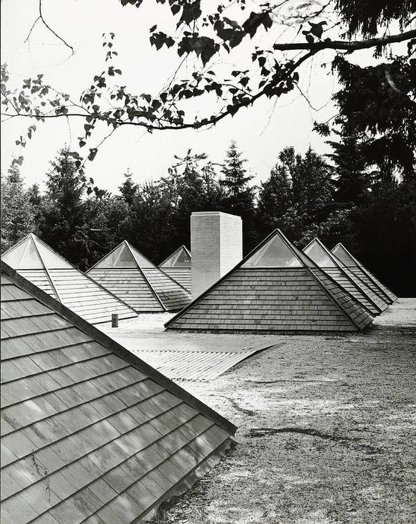 Outdoors Art Print featuring the photograph Pyramid Skylights by Pedro E. Guerrero