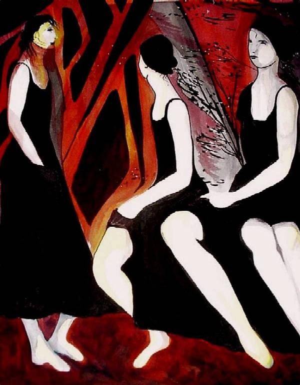 Women Art Print featuring the painting Quiet Desperation by Carolyn LeGrand