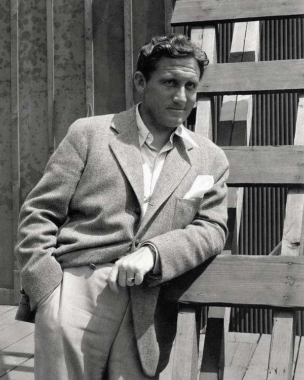 Actor Art Print featuring the photograph Spencer Tracy Wearing A Tweed Sports Jacket by Imogen Cunningham