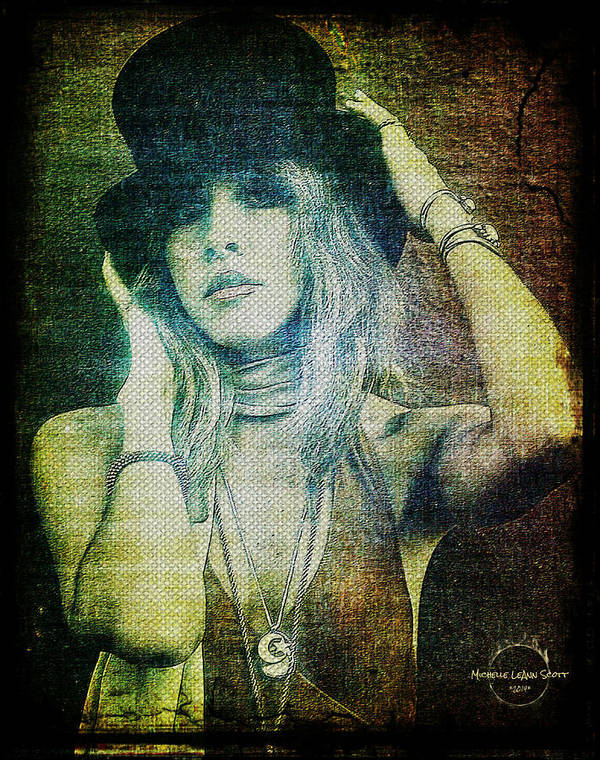 Stevie Nicks Art Print featuring the digital art Stevie Nicks - Bohemian by Absinthe Art By Michelle LeAnn Scott