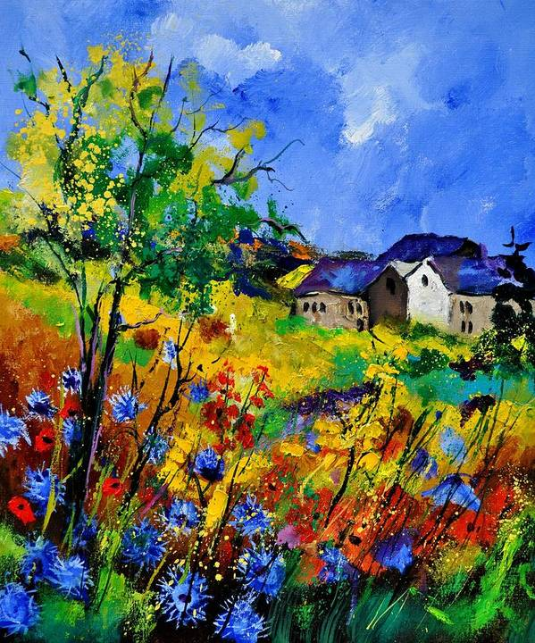 Landscape Art Print featuring the painting Summer 673180 by Pol Ledent