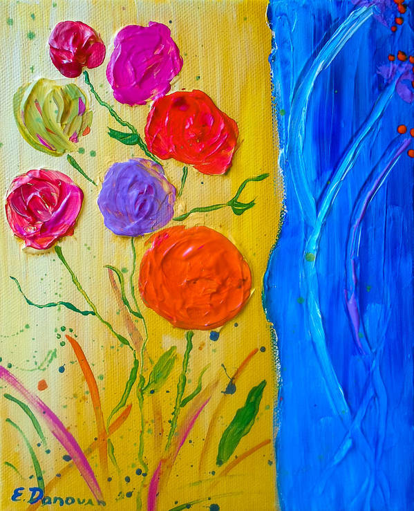 Summer Expression Art Print featuring the painting Summer Joy by Eliza Donovan