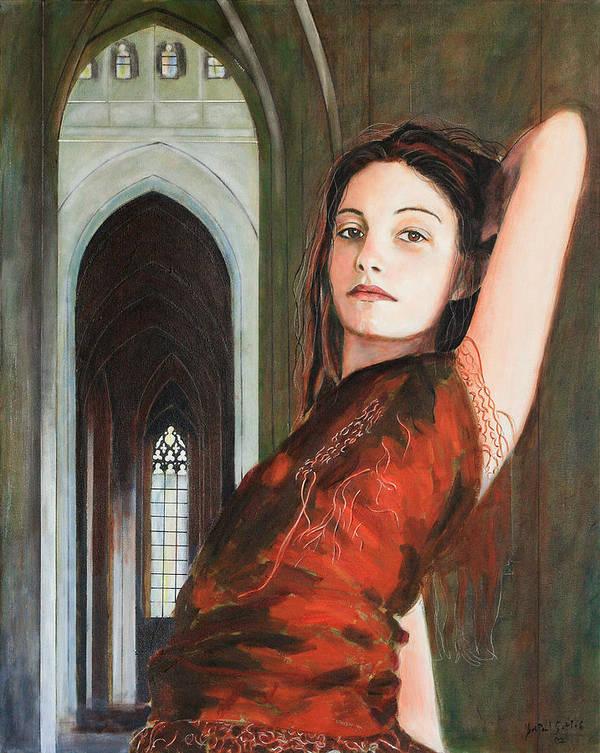 Tantra Princess Art Print featuring the painting Tantra Princess by Jean-Paul Setlak