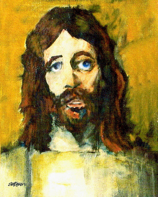 Jesus Christ Art Print featuring the painting The Galilean by Seth Weaver