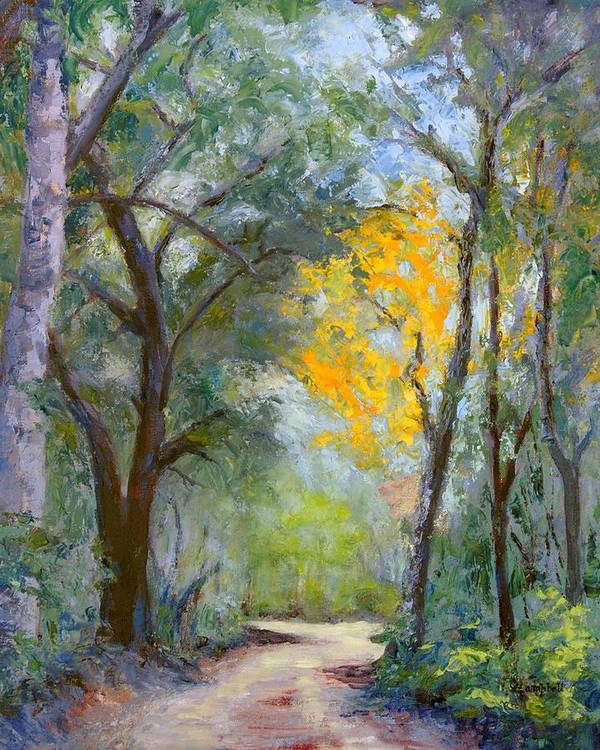Plein Air Art Print featuring the painting The Road to Shell Redemption by Cecelia Campbell