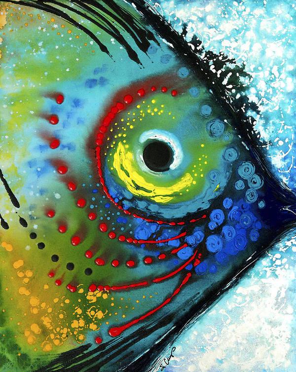 Sharon Cummings Art Print featuring the painting Tropical Fish - Art by Sharon Cummings by Sharon Cummings